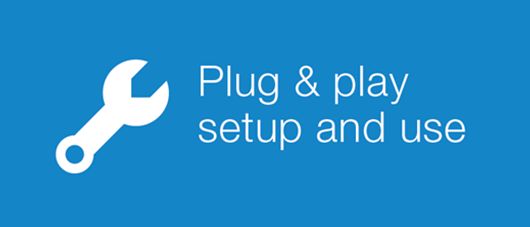 plug & play setup and use