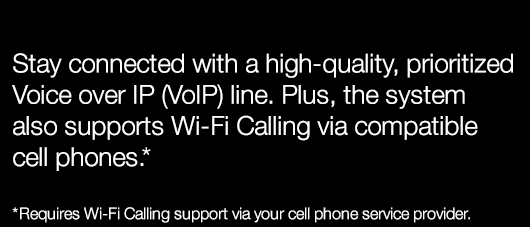 crystal-clear, prioritized VoIP service