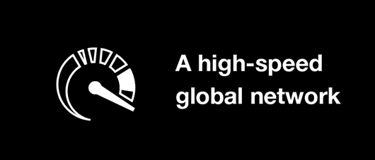 a high-speed global network